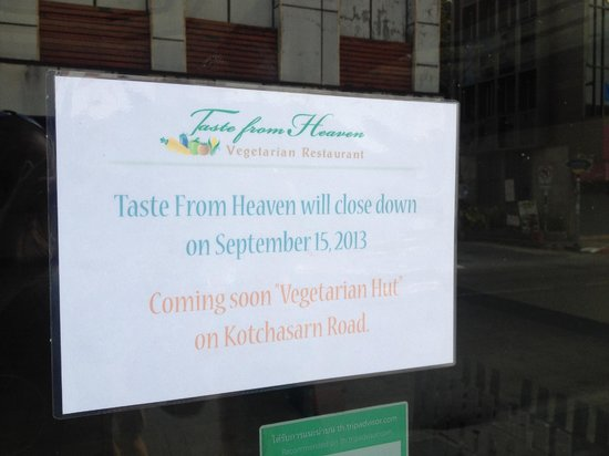 Taste from Heaven - Vegetarian and Vegan Cooking School: Closed/Moved - no new address