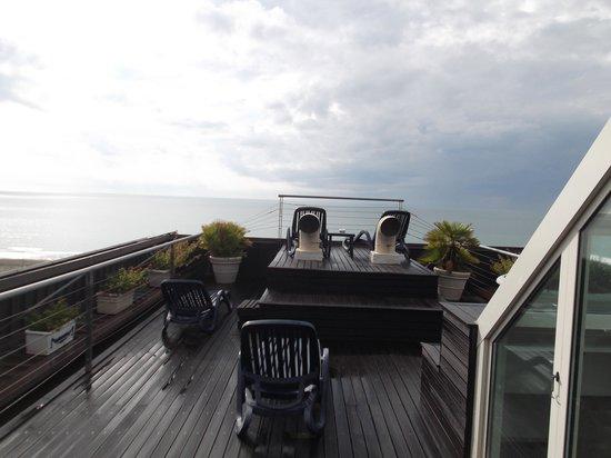 Hotel Astor Viareggio: sur le toit de l'hotel face à la mer