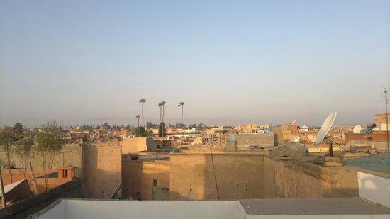 Riad Matham : vue sur la médina depuis la terrasse