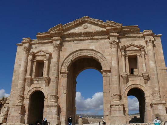 Jerash Ruins: Entry gate of Jerash