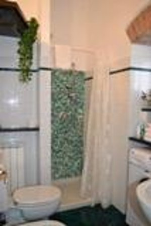 Affittacamere da Cristiana: bagno fornito di lavatrice, asciugacapelli, asciugamani
