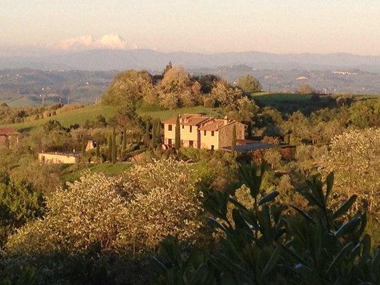 La Valle: Вид из виноградника отеля