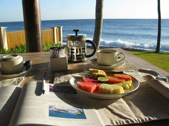 Kubu Indah Dive & Spa Resort: udsigt til morgenmaden