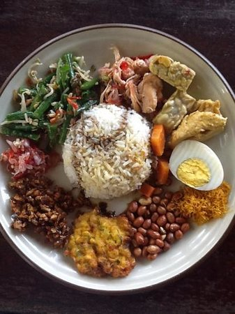 Warung Blanjong : 美味しいナシチャンプル