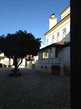 Hotel Lusitano: Вход в отель, рядом спа за ним здание конференций