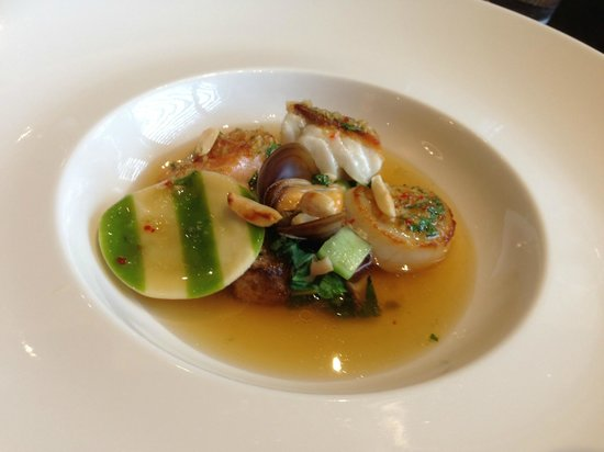 Castle Terrace Restaurant: Asian style broth of Scottish fish and shellfish