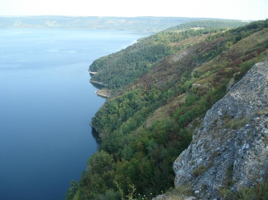 Kamianets-Podilskyi, ยูเครน: Бакота, скальный монастырь.