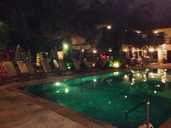 Baan Souy: The Pool at Night