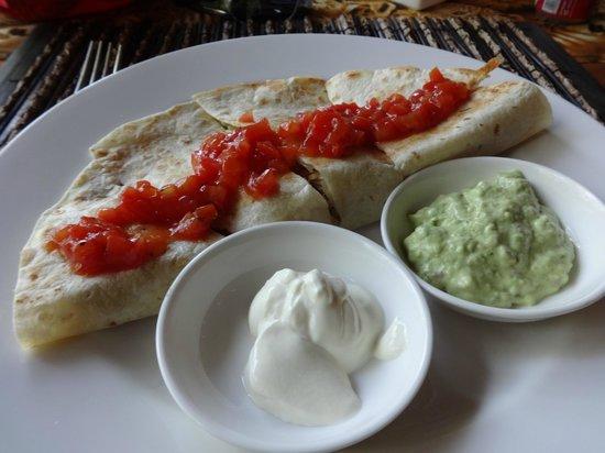 Tsavo Lion Restaurant: Quesadillas con Pollo, a lot of good!!!