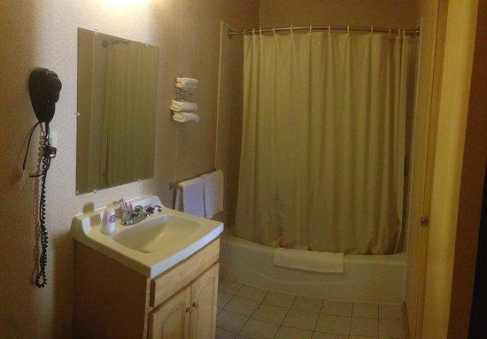 Knights Inn Pine Brook: Standing Shower & Bathtub