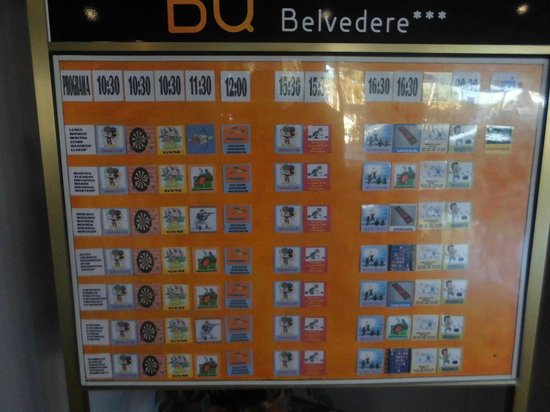 BQ Belvedere Hotel : расписание развлечений