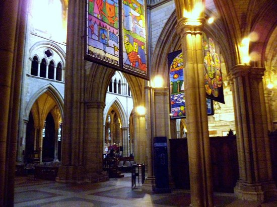 Truro Cathedral: Old and modern interior