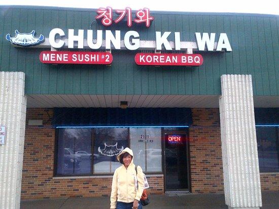 Wife in front of Chung Ki Wa