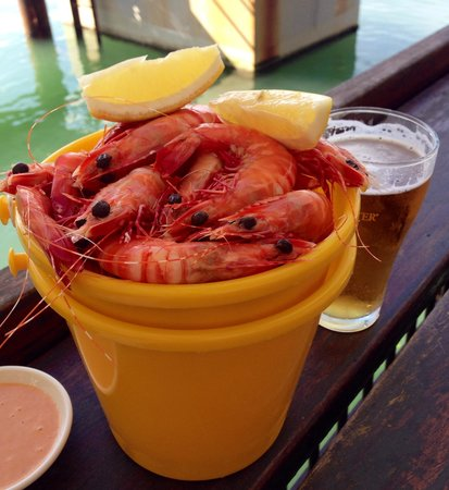 On The Inlet: Bucket of prawns!