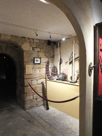 Manoir de Gisson: en sous sol