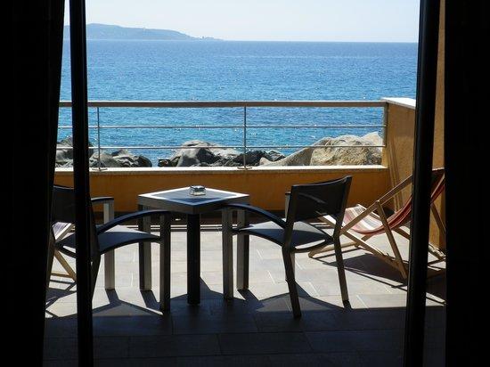 Hôtel Abbartello : Balcone privato vista mare