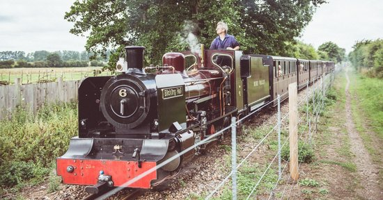 Hautbois Hall: Bure Valley Steam Train which passes gently through the grounds