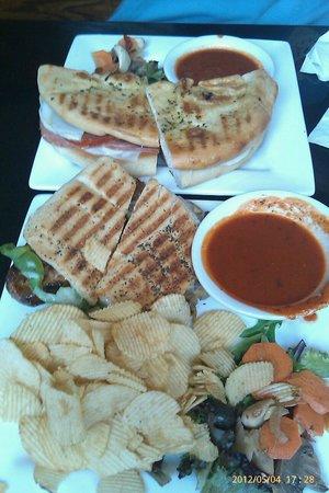 Robin Hood Brewing Co. : Hot sausage panini and 'Godfather' sandwich