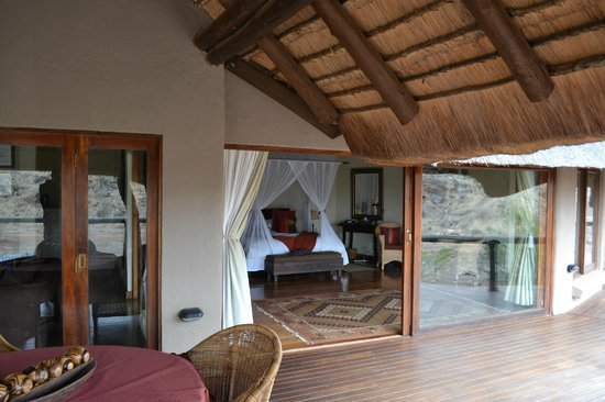 Tuningi Safari Lodge: Bedroom from our private deck
