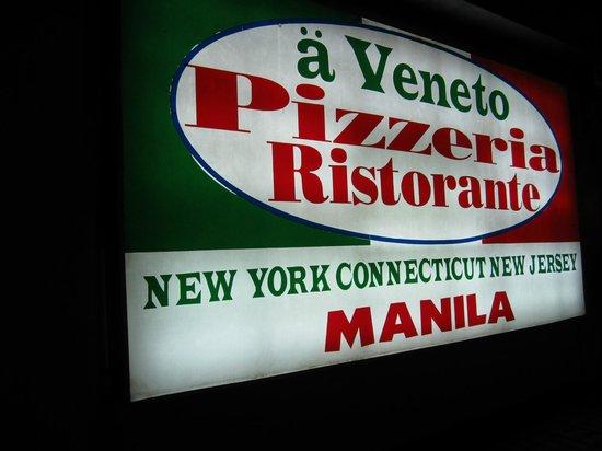 A Veneto Pizzeria Ristorante BF Homes: front signage