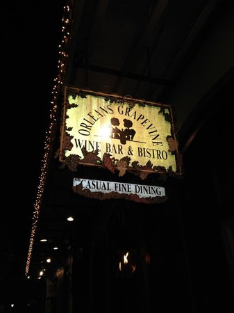 Orleans Grapevine Wine Bar and Bistro: Right across from Bourbon Orleans Hotel