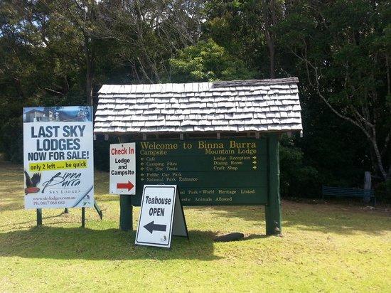 Binna Burra Mountain Lodge: entrance