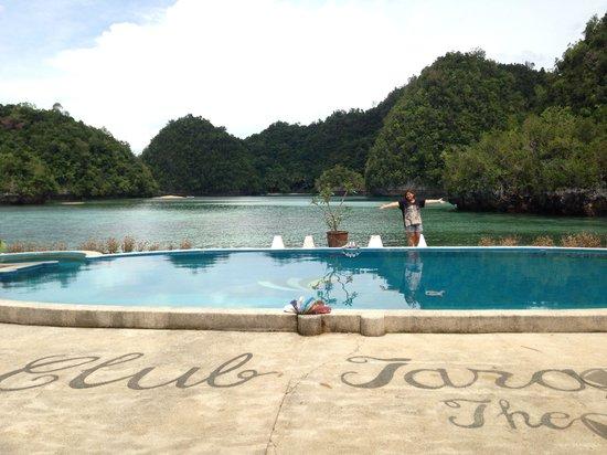 Great view picture of club tara resort socorro for Salt water swimming pool
