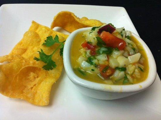 Calilou: Mango and Scallop Ceviche