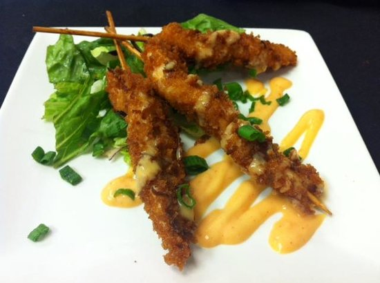 Calilou: Coconut Crusted Chicken Skewers