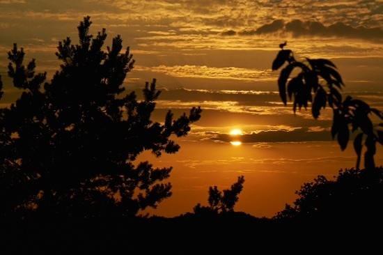 Hotel Haferland: Sonnenuntergang von der Terasse aus