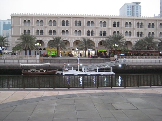 Al Qasba: Boating jetty at the canal