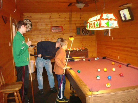 Pool Table In Converted Garage Picture Of At Boulders Edge - Pool table in garage