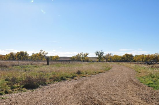 Deer Trail, CO: The trail near the agricultural conservation portion of the open space.