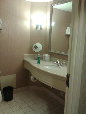 Rimrock Resort Hotel: Bathroom with pastel colours from the 90s. :) Very very clean! & that's what is important.