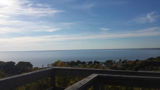 High Cliff State Park: View from the Tower; Lake Winnebago