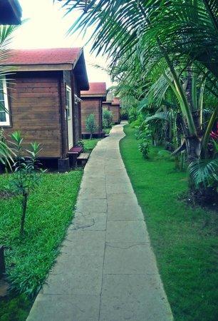 Ozran Heights Beach Resort: back lane