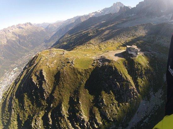 Chamonix Parapente : notre aire de départ