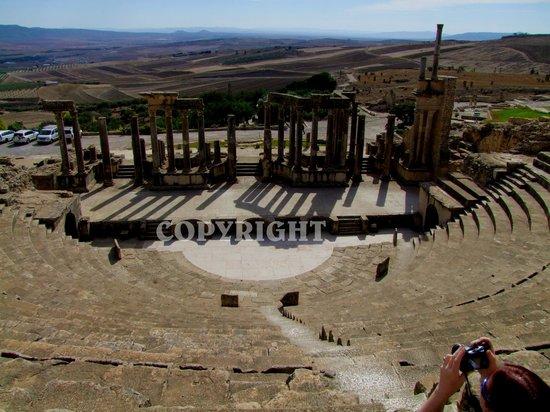 Dougga : Communal toilets, even in Roman times