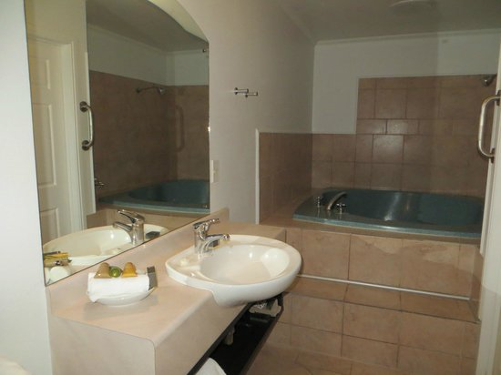 Silver Fern Rotorua - Accommodation and Spa: bathroom with Jacuzzi