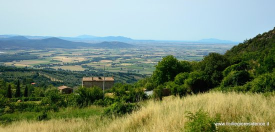 Residence Il Ciliegio : The overview from the rooms