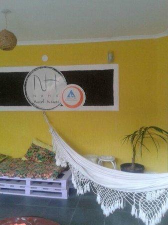 Nahu Hostel: Living area, very cozy