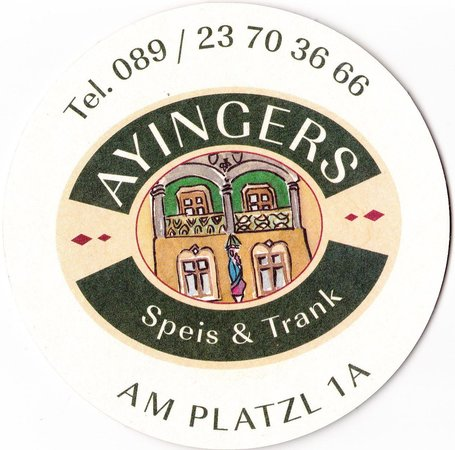 Wirtshaus Ayingers: Posavasos.