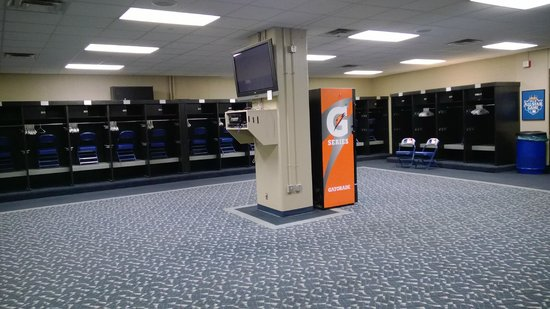 Kauffman Stadium : The visitor's locker room