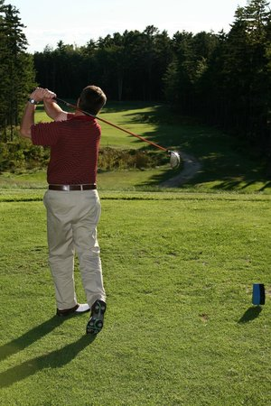 Sebasco Harbor Resort : Teeing off on  hole 4