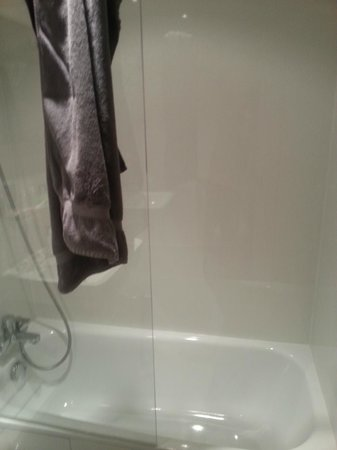 Hotel Diana: Chuveiro/banheira (Shower/tube)