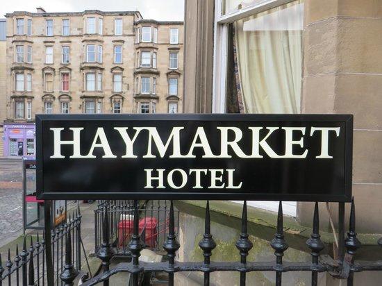 Haymarket Hotel: Front Signage