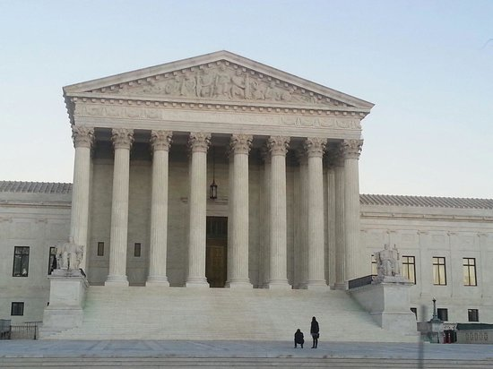 US Supreme court building (taken while on a trolley tour)