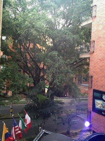 Hotel Casa Laureles : Esa es la vista desde mi habitación en el tercer piso