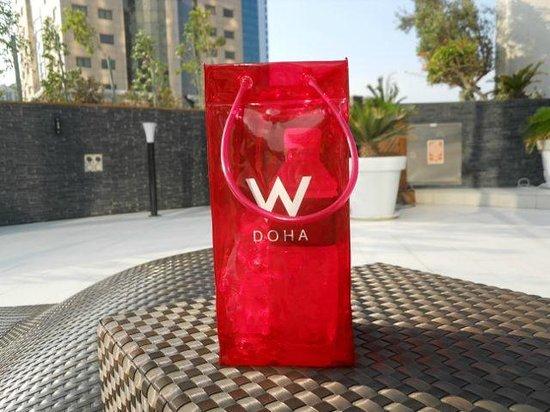 W Doha Hotel & Residences: Designer bag as ice bucket