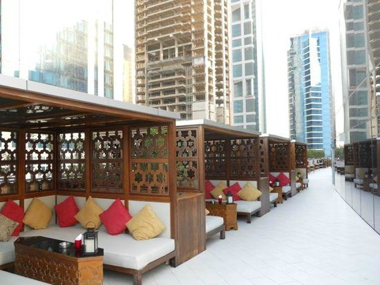 W Doha Hotel & Residences: The outside of the Wahm club by daytime